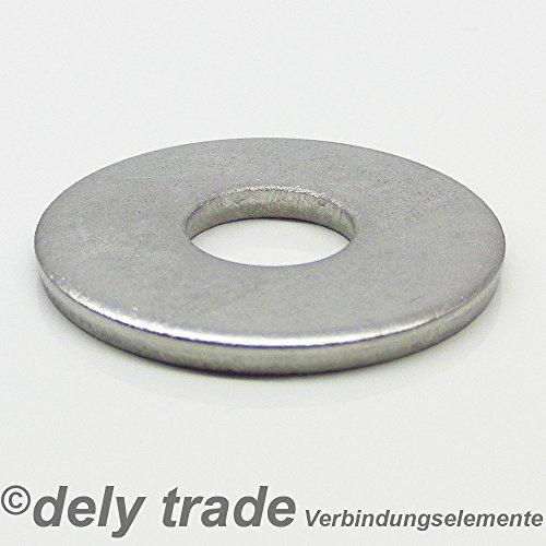 10 Stück Große Unterlegscheiben M8 DIN 9021 VA Edelstahl Scheiben