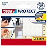 tesa Protect Lot de 28 Pastilles antibruit/antidérapantes Protect Ø 8 mm