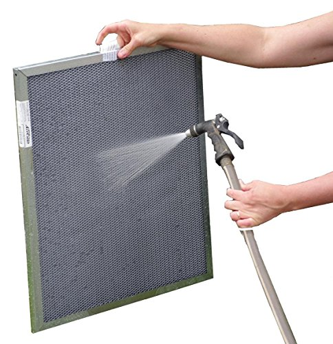 21-1/2x23-1/2x1 Electrostatic Washable Permanent A/C Furnace Air Filter - Reusable - Silver Frame
