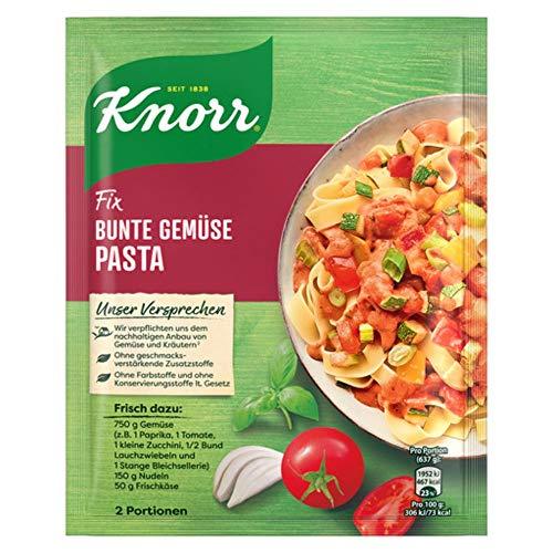 Knorr Fix Gewürzmischung für Bunte Gemüse Pasta (ohne geschmacksverstärkende Zusatzstoffe & vegan ), 24er Pack (24 x 38 g)