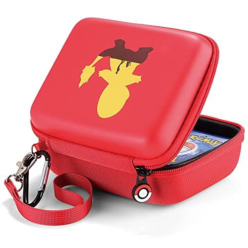 Custodia per Carte da Trasporto Collezionabili Pokémon (Charmander), Box Carte, Adatta per UNO, Yu-Gi-Oh, MTG, GX EX, Amiibo Animal Crossing, SKYJO, Exploding Kittens, Phase 10, Contenere 400+ Carte