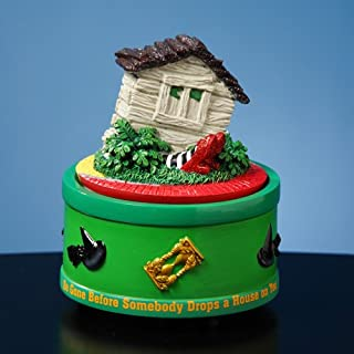 The San Francisco Music Box Company The Wizard of Oz House on Witch Feet Rotating Mini Figurine