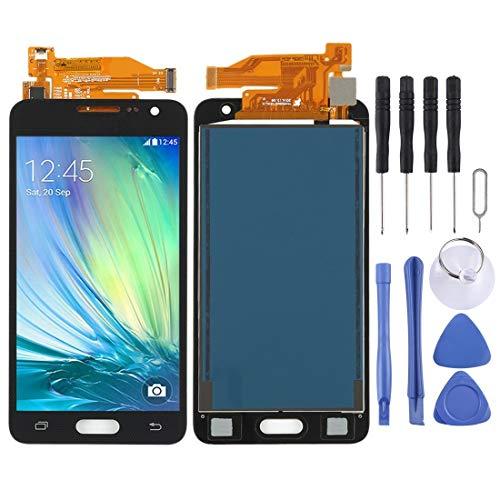 XCVBN Pantalla LCD de Repuesto y digitalizador Asamblea Completa (TFT Material) for Galaxy A3, A300F, A300FU (Negro) Cartucho de reparación de la Pantalla + Kit Completo de Herramientas