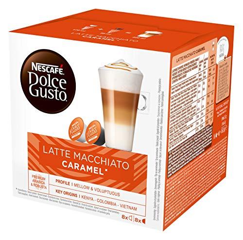 Nescafe Dolce Gusto Latte Macchiato Caramel, 1er Pack (1 x 16 Kapseln)