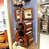 Geige kreative Weinregal Ornament Dekoration Arbeitsplatte Display Weinregal Home Kitchen Bar Weinflasche Lagerung