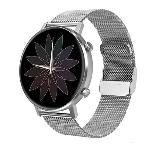 YZK Smart Watch Ladies Pantalla táctil Completa 360 * 360 RESOLUCIÓN DE LA RÁPIDAD DE LA RÁPIDAD DE LA PRESIÓN ANULA DE LA PRESIÓN sobre (para Android iOS) SmartWatch,C