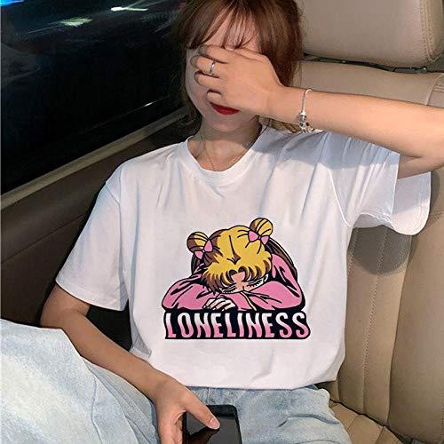 Camiseta para Mujer con Gráfico De Los Años 90 Bonita Camiseta Estética Divertida Camiseta Superior para Niña Aplicar Al Ejercicio De Uso Diario Correr Ciclismo Gimnasio Etc-27210_XXL