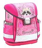 Belmil Ergonomischer Schulranzen Mädchen 1. klasse 2. klasse 3. klasse - Super Leicht 900-960 g/Grundschule/Waschbär Raccoon/pink (403-13 Raccoon)