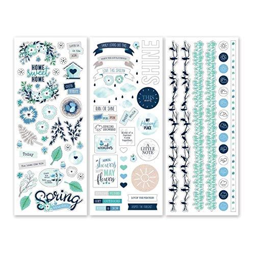 Creative Memories Spring Medley Aufkleber und Bordüren (3er-Pack) für Scrapbooking und Kartenherstellung