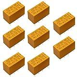 Relè di Potenza 3V DC Relè di potenza giallo 8 pin relè di potenza Relè di potenza HK19F Rele' di potenza generale per elettrodomestici, comunicazioni di rete, apparecchiature elettroniche 8 pcs