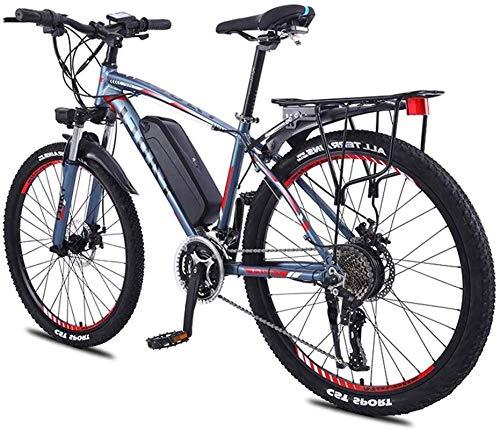 RDJM Bici electrica, Adultos de 26 Pulgadas de la Rueda de Bicicleta eléctrica de aleación de Aluminio 36V 13Ah Batería de Litio de Ciclo de la Bicicleta de montaña, (Color : Blue)