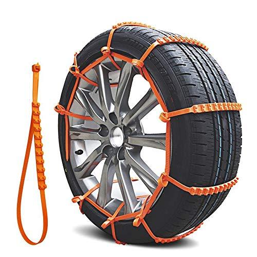 QINGJIA Cadena de nylon 10pcs nieve del invierno ruedas neumáticos de nieve rueda de coche del cinturón anti deslizamiento de los neumáticos cadena antideslizante Autocross aire libre Accesorios for e