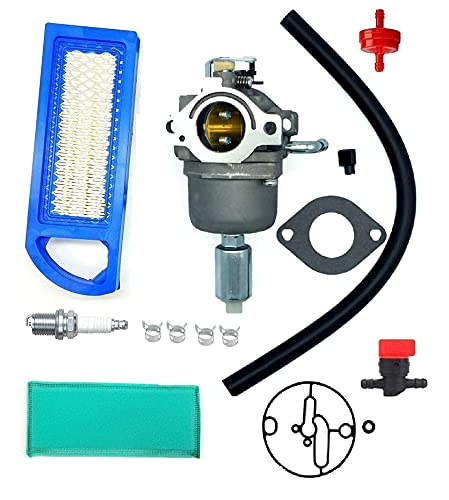 MDAIRC 796587 594593 Carburetor Carb for Briggs & Stratton 19 19.5 20 20.5 21 HP Engine Craftsman Riding Mower Lawn Tractor Intek Cylinder OHV Motor Nikki carb Replace #591736 594601 591731 796109