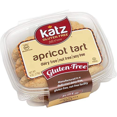 Katz Gluten Free Apricot Tarts | Dairy Free, Nut Free, Soy Free, Gluten Free | Kosher (1 Pack, 6 Ounce)