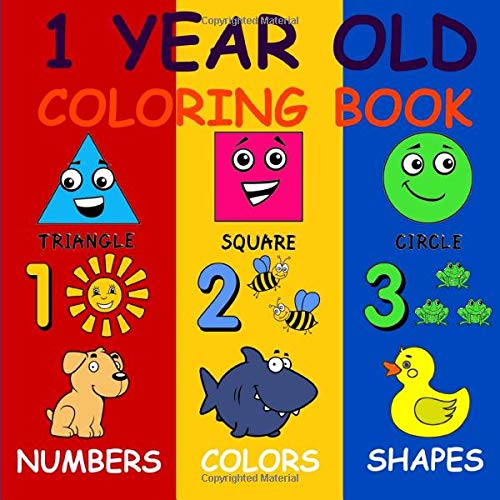 1 Year Old Coloring Book: Baby First Coloring Book (US Edition)