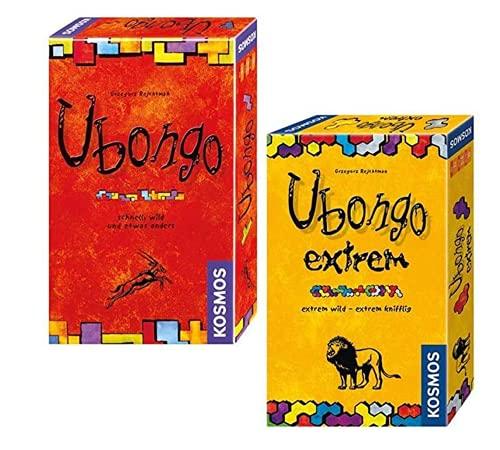 Kosmos Ubongo - 2 Wilde Legespiele für unterwegs: Ubongo Klassiker + Ubongo Extrem. Jeweils für 1 bis 4 Spieler ab 7 Jahren
