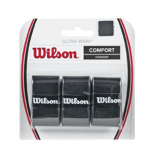 Wilson Grip WRZ403000 Impugnatura Ultra Wrap Overgrip, Unisex, Nero, 3 Unità