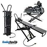 Kendon Folding Stand-Up ATV Motorcycle Table Lift | Dirt Bike Lift Table | Air & Hydraulic Jack | Heavy-Duty 1000 lb Capacity