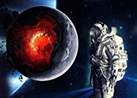 HD10x7ft溶ける惑星の背景宇宙飛行士の背景テーマパーティー写真の背景壁紙写真ブース小道具BJLHFH82