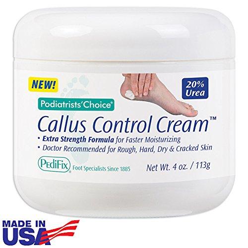 Pedifix Podiatrists Choice 20% Urea Callus Control Extra Strength Foot Cream 4 Oz. (113g)