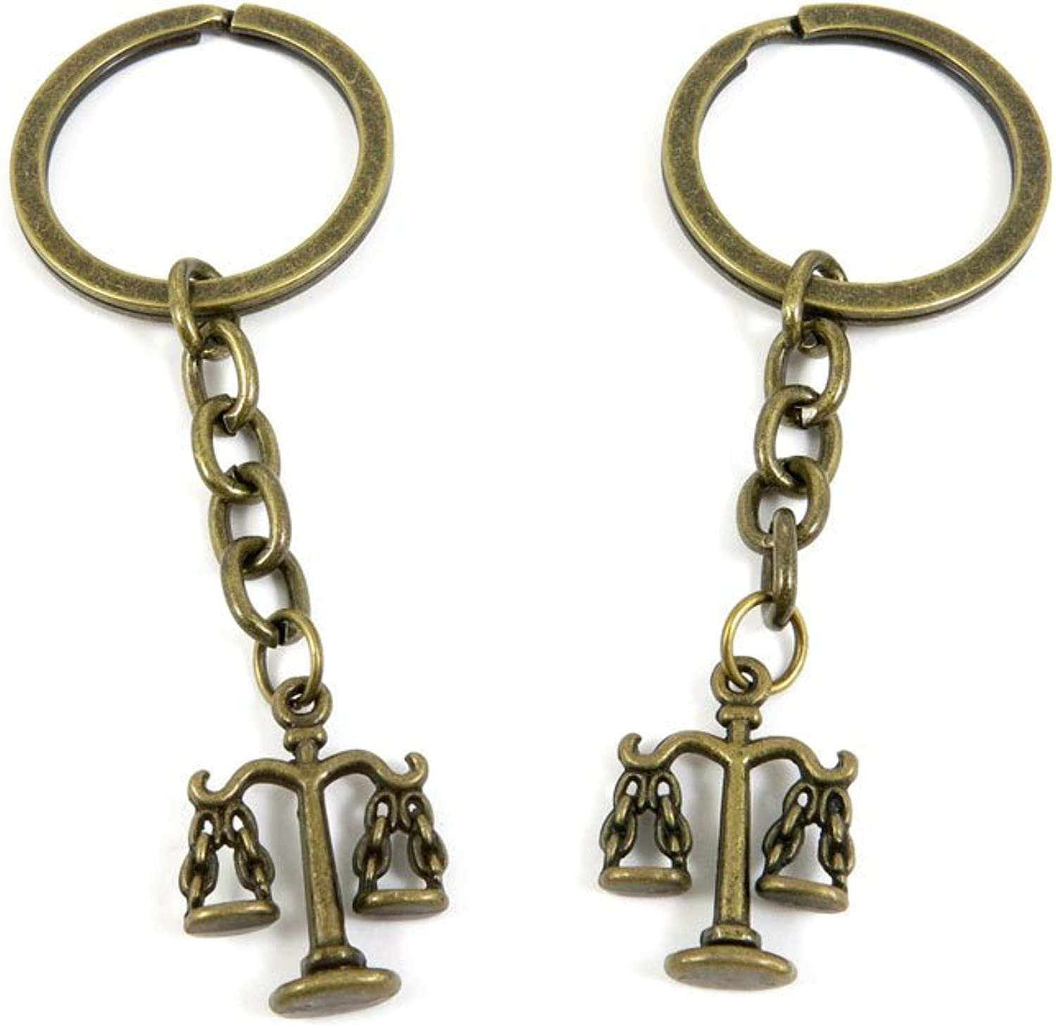 Ancient Bronze Keychain Keyring Key Chain Ring Charms Jewelry Making Handmade K4DO5 Libra Scale