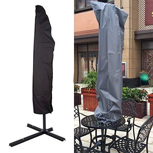 林抗UV 210 Dオックスフォード布折りたたみ屋外パラソル傘保護カバー、サイズ:57 * 48 * 25 cm(ブラック) WXW