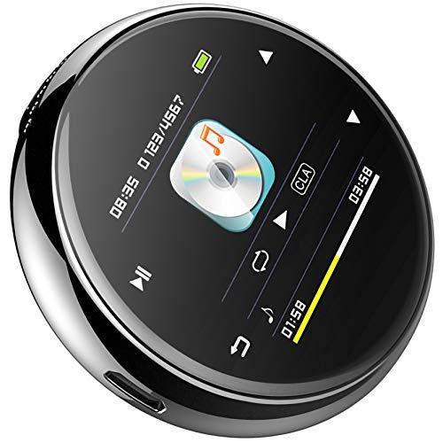 Bias&Belief Reproductor MP3 Bluetooth, Reproductor de Música Digital con Pantalla de 1,5 Pulgadas y Altavoz, Grabación de Voz, Radio FM, Lector de Libros Electrónicos, Visor de Fotos,16gb