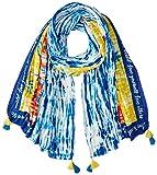 Desigual Foul_tye Hawaii Bufanda, Azul (Navy 5000), Talla única (Talla del fabricante: U) para Mujer