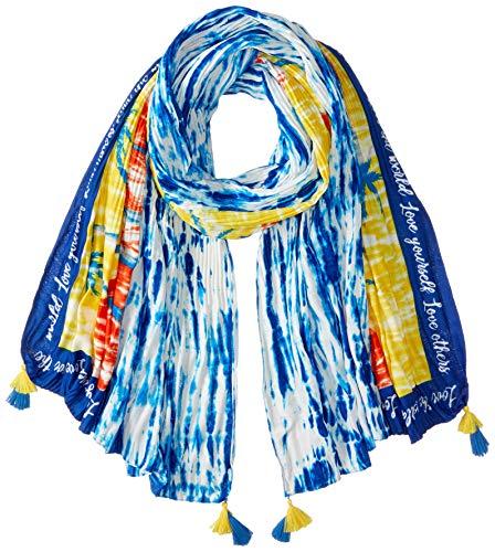 Desigual Damen FOUL_TYE HAWAII Schal, Blau (Navy 5000), One Size (Herstellergröße: U)