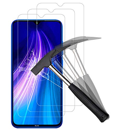 ANEWSIR 3X Vetro Pellicola Protettiva per Xiaomi Redmi Note 8 Vetro Temperato, Xiaomi Redmi Note 8 Protezione Schermo Vetro Temperato [Durezza 9H], Screen Protector HD Alta Trasparenza