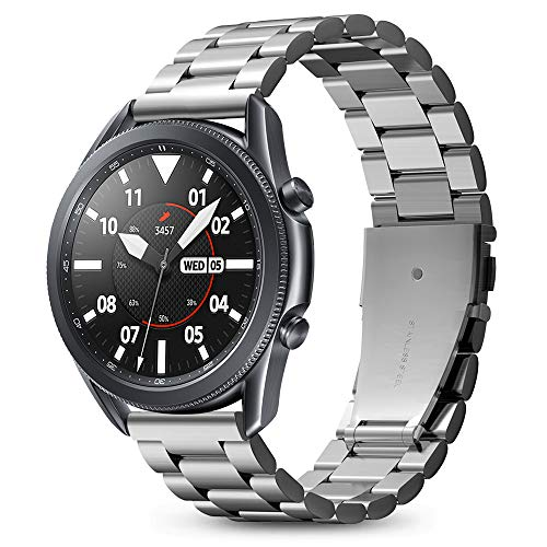 Spigen Modern Fit Compatible con Samsung Galaxy Watch 3 45mm Correa Band (2020) / Galaxy Watch 46mm Band (2018) / Gear S3 Frontier Band / S3 Classic Band - Plateado
