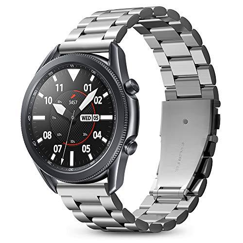 Spigen Modern Fit Compatible con Samsung Galaxy Watch 3 45mm Band (2020) / Galaxy Watch 46mm Band (2018) / Gear S3 Frontier Band / S3 Classic Band - Plateado