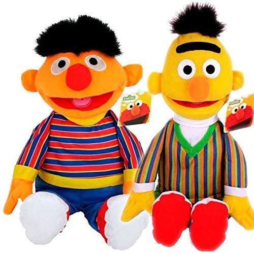 Sesamstraße Original Lizenzartikel Plüschfiguren in toller Qualität (2er Set Ernie & Bert)