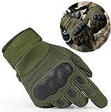 Guantes Tácticos guantes de moto, guantes de pantalla táctil duro guantes de motocicleta guantes de dedo completo para Moto Motocicleta Excursión Bici Ciclismo Deporte Ejercicio (Verde, XL)