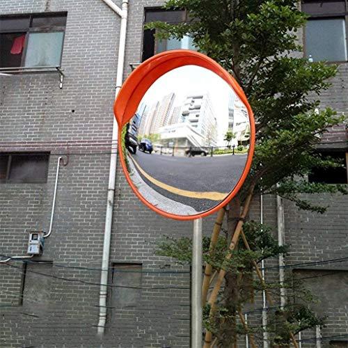 DZX Espejo de Seguridad para el tráfico al Aire Libre, Espejo esférico de plástico Rojo Cruce de Caminos Espejo Giratorio Espejo Convexo Lateral de la Carretera 30-120 CM (Tamaño: 100 CM), Espejo de