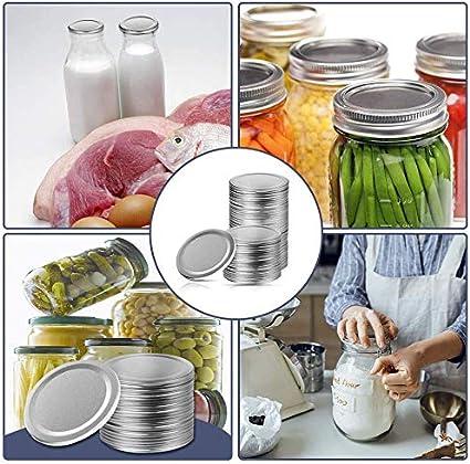 tapas de lata se utilizan para evitar fugas y sellar tarros de gelatina convencionales con tapa abierta. tapas de botella de cristal 24 tapas de tarros de cristal con apertura normal