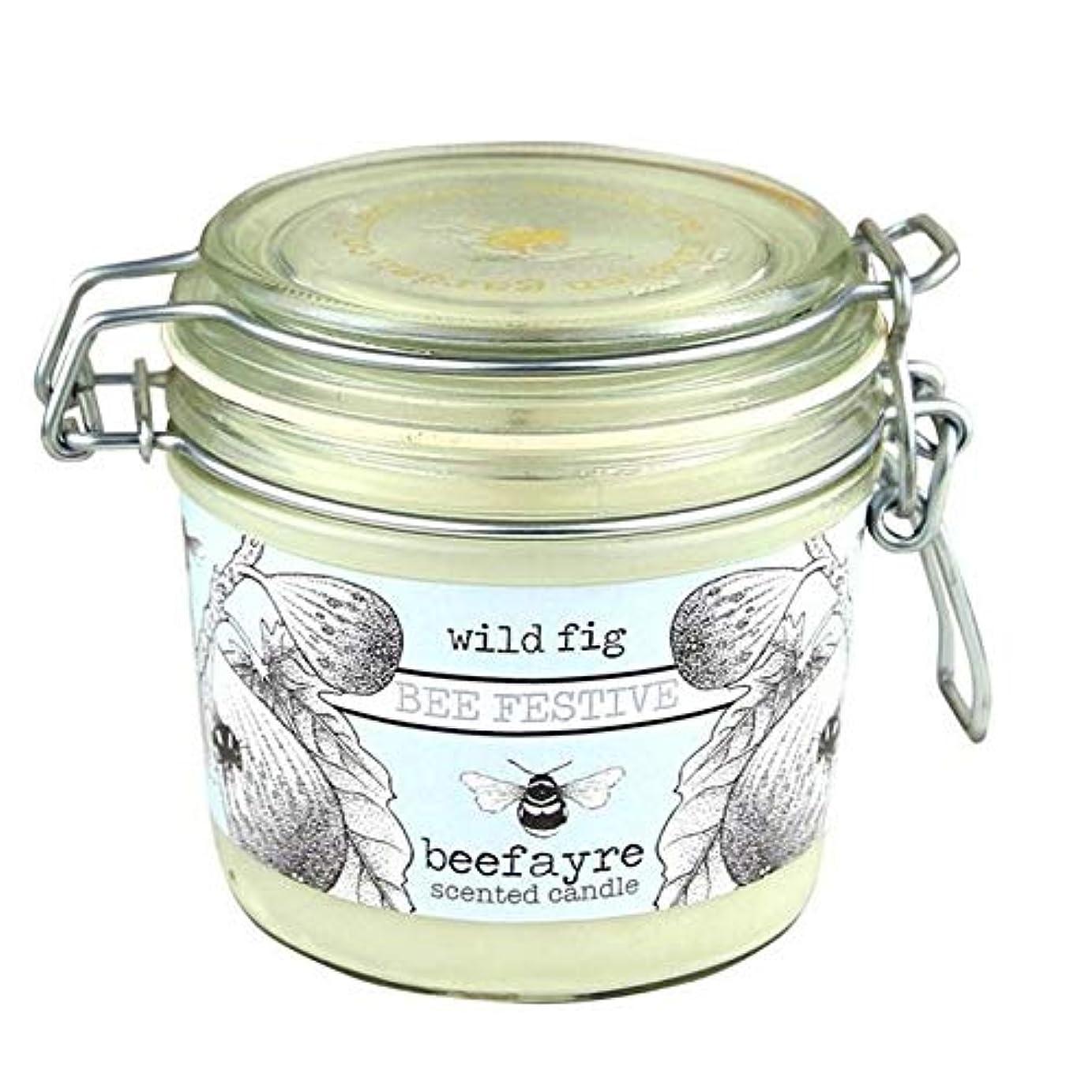 しつけクリーク路面電車[Beefayre] 野生のイチジク大きな香りのキャンドルBeefayre - Beefayre Wild Fig Large Scented Candle [並行輸入品]