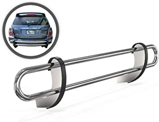 VANGUARD VGRBG-0145SS Multi-fit Rear Bumper Guard Stainless Steel Double Tube Style