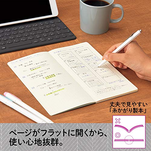 プラスノートメモ帳カ.クリエA4×1/3NSシリーズ方眼5冊ブラック77762×5