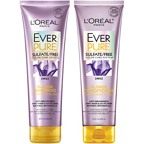 L'Oréal Paris EverPure Blonde Shampoo and Conditioner Kit for Color-Treated Hair, 8.5 Ounce, Set of 2