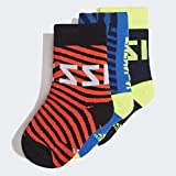 adidas Messi Kids Sock Socken Unisex Baby Maruni/Blau/Rot, 19/22