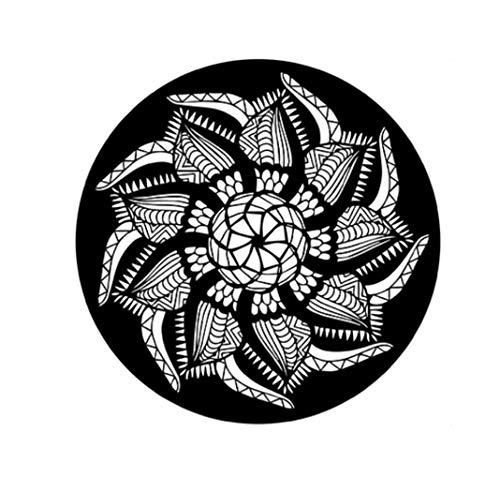 CYBERNOVA Rompecabezas Redondo de 1000 Piezas Juego Intelectual de Flores en Blanco y Negro para Adultos