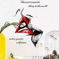 DIYビニールクラシック愛告白ウォールステッカー取り外し可能なビニールデカールアート壁画粘着性の家の装飾リビングルームの寝室のギフトHMMIO