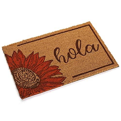 Versa, Felpudo Girasol Hola, Linea decoración y Regalo, alfombras & felpudos