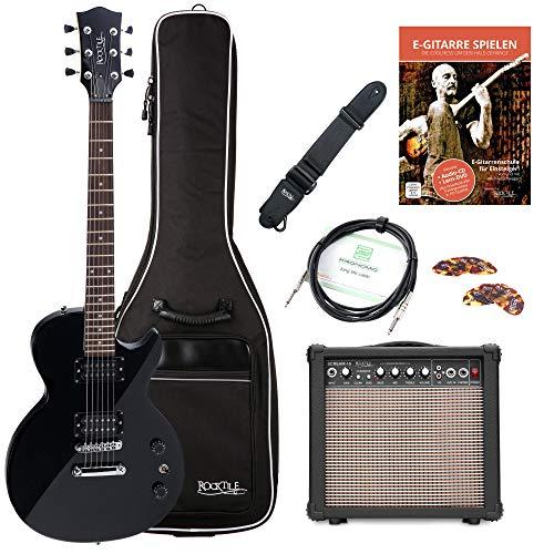 Rocktile L-100 BL E-Gitarre schwarz Starter SET