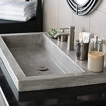 Native Trails NSL3619-A Native Stone Trough Bathroom Sink, 36