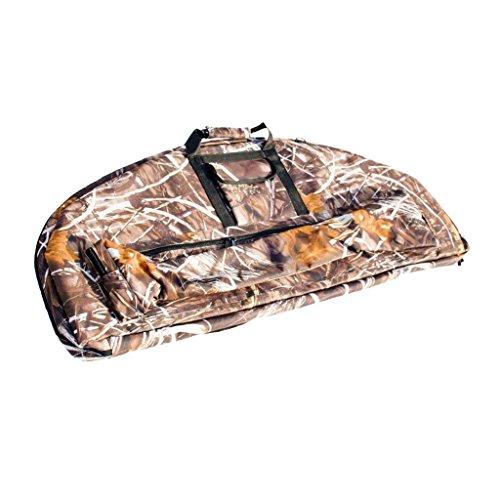 SGerste Ligero portátil al aire libre caza tiro con arco de lona compuesto arco bolsa de protección caso camuflaje 95x41x4cm