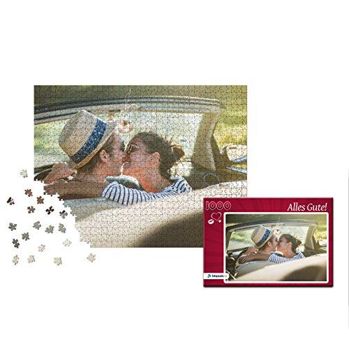 Fotopuzzle 100 bis 2000 Teile - Gestaltung jetzt direkt Hier - Das Puzzle mit eigenem Foto und individueller Geschenk-Schachtel (1000 Teile, Schachtel: Herz Rot)