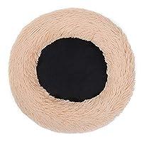 ペットベッド 巣ハウスマットクッション暖かい洗えるマルチカラー眠るソフト子犬猫犬ペットベッド洞窟オプション 室内のペットが暖かく休むのに適しています (Color : Beige, Size : One size)