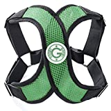 Gooby - X Harness, Small Dog Choke Free Step-in Harness with Synthetic Lambskin Soft Strap, Hunter Green, Large